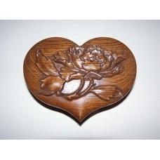 """Шкатулка """"Серце"""" - дуб, класична фарбування"""