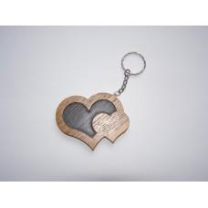 Брелок для ключів - 2 серця
