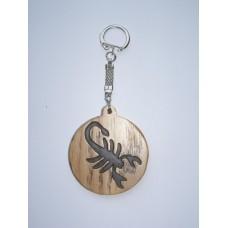 """Брелок для ключів - знак зодіаку """"Скорпіон"""""""