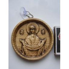 """Ікона кругла на підставці - """"Покров Пресвятої Богородиці"""""""