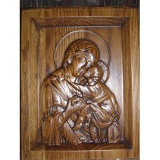 Ікона різьблена - «Ікона Божої Матері Іверська» (200 * 150 мм)