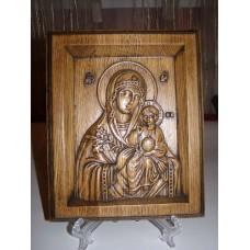Ікона різьблена - Божої Матері «Нев'янучий Цвіт» (200 * 150 мм)