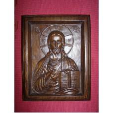 """Ікона різьблена - """"Христа Спасителя"""" (200 * 150 мм)"""