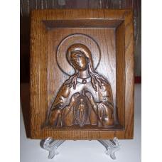 Ікона різьблена - Божої Матері «Помічниця в пологах» (200 * 150 мм)