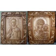 Вінчальна пара: Спаситель і Богородиця «Казанська