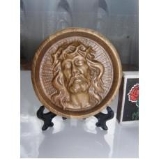 Ікона кругла на підставці - Ісус в терновому вінку (ясен)