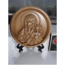 """Ікона кругла на підставці - Божої Матері """"Нев'янучий Цвіт"""""""