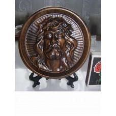 Икона круглая на подставке – Иисус в терновом венце (орех)
