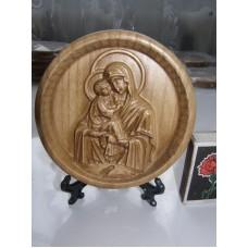 Ікона кругла на підставці - Почаївська ікона Божої Матері