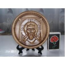 Ікона кругла на підставці - Спас Нерукотворний