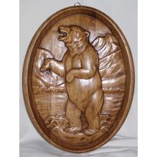 Картина - Ведмідь (мисливська, овал)