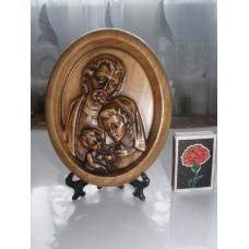 Різьблена картина - Святе сімейство (на підставці)