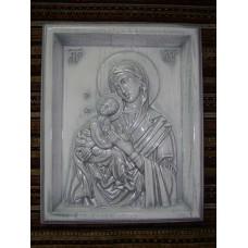 Ікона з дерева - Володимирська Божої Матері (срібна)