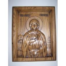 Ікона з дерева - Свята блаженна Ксенія Петербурзька